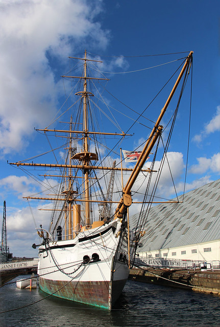HMS Gannet moored at Chatham Dockyard