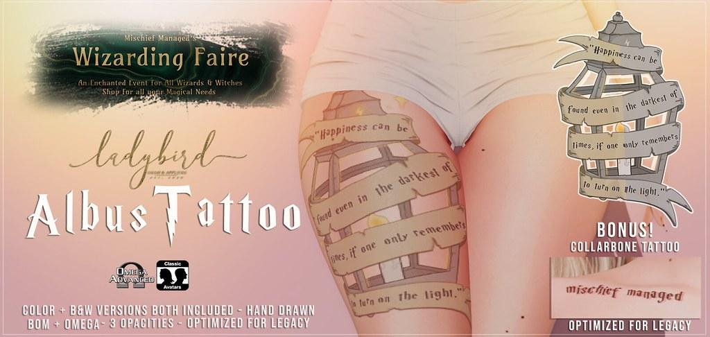 Ladybird. // Albus Tattoo @ Wizarding Fair 2020! <3
