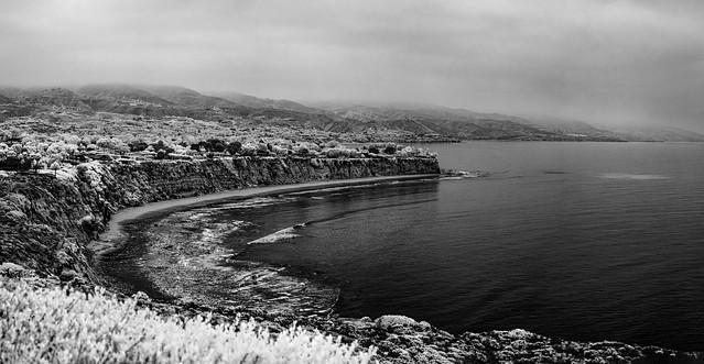 Malibu Coast - Infrared Black and White
