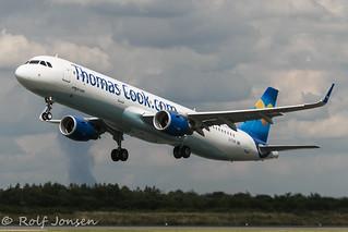 G-TCDB Airbus A321 Thomas Cook Manchester Airport EGCC 07.08-15