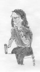 Femme dans un bistrot / Women in a bar