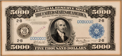 Grinnell $5,000 note | by Numismatic Bibliomania Society