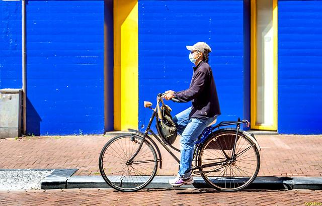 Biker In Blue