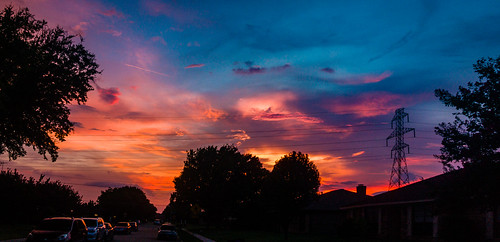 sunset sky clouds color summer pentax pentaxk7