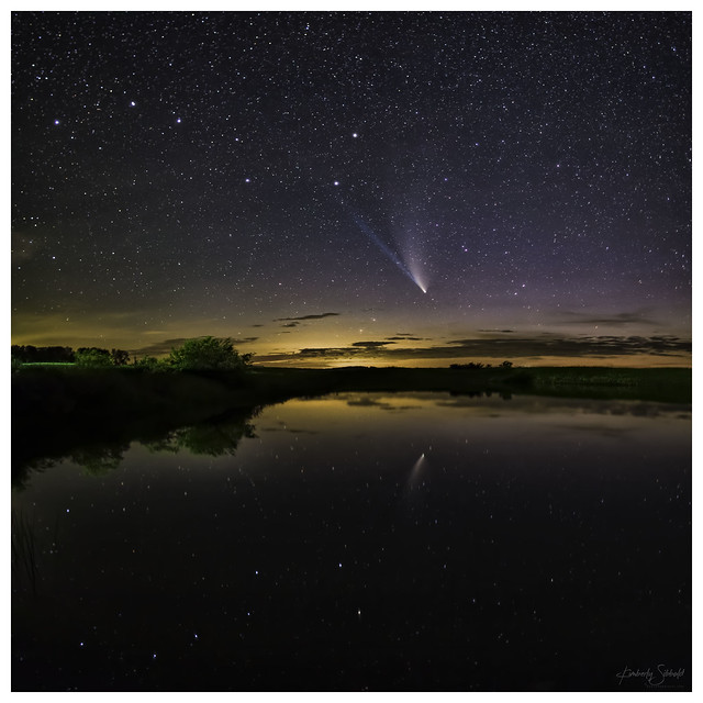 NEOWISE Comet with Big Dipper reflection
