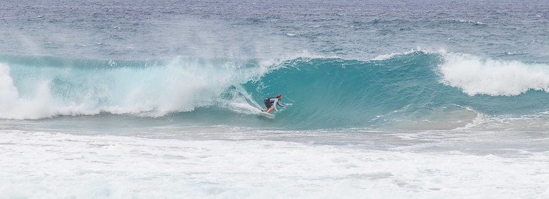 Surfing at Oneloa Beach