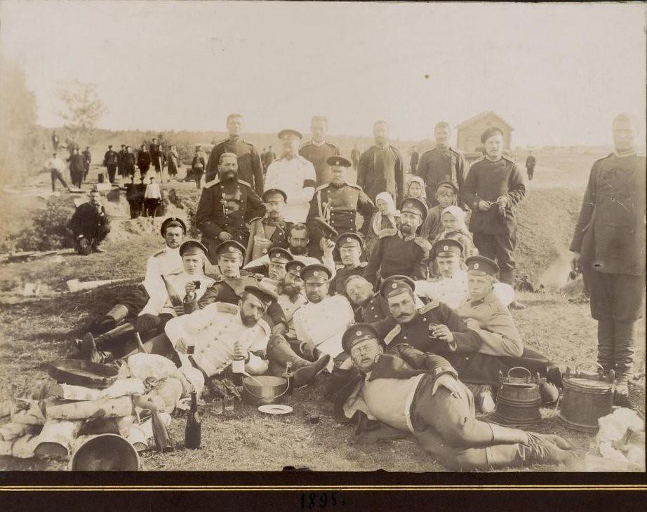 1895. Групповой снимок военных