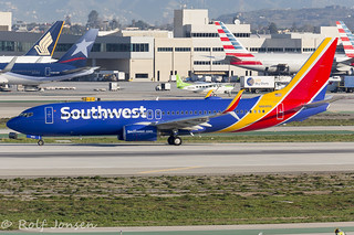 N8685B Boeing 737-800 Southwest Airlines Los Angeles Airport KLAX 25.01-17