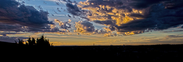 Sunset at Pocatello, Idaho.