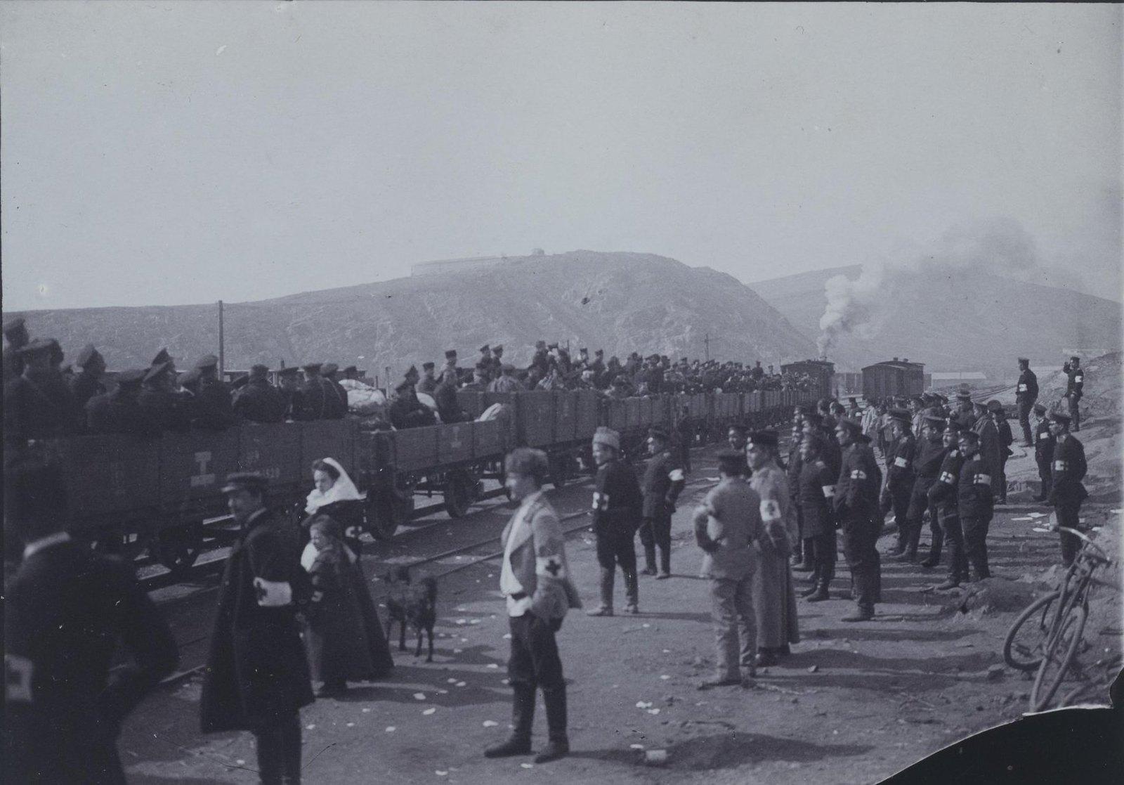 1900-е. Прибытие поезда с военными