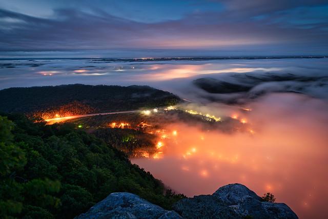 Daniel stood on Pinnacle Rock looking down on Tennessee