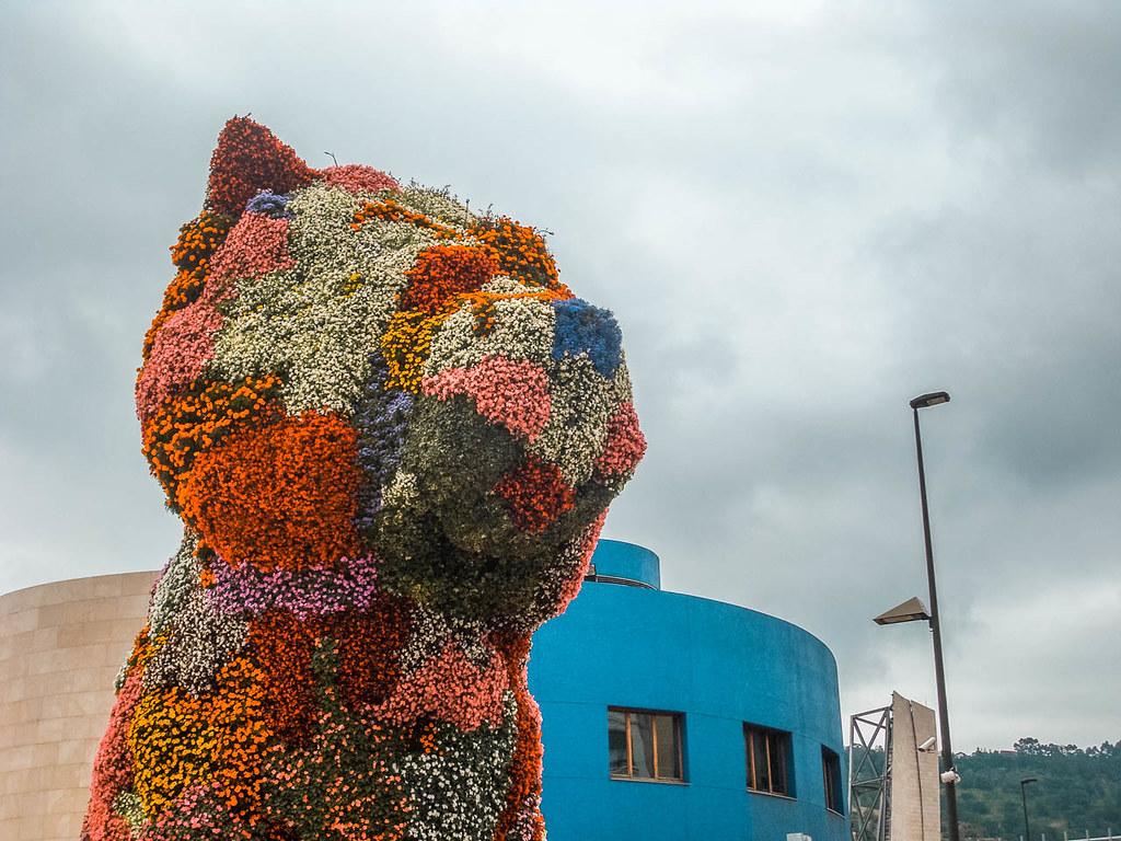 Puppy de Jeff Koons Guggenheim Bilbao