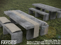 FAYDED - Concrete Table Set