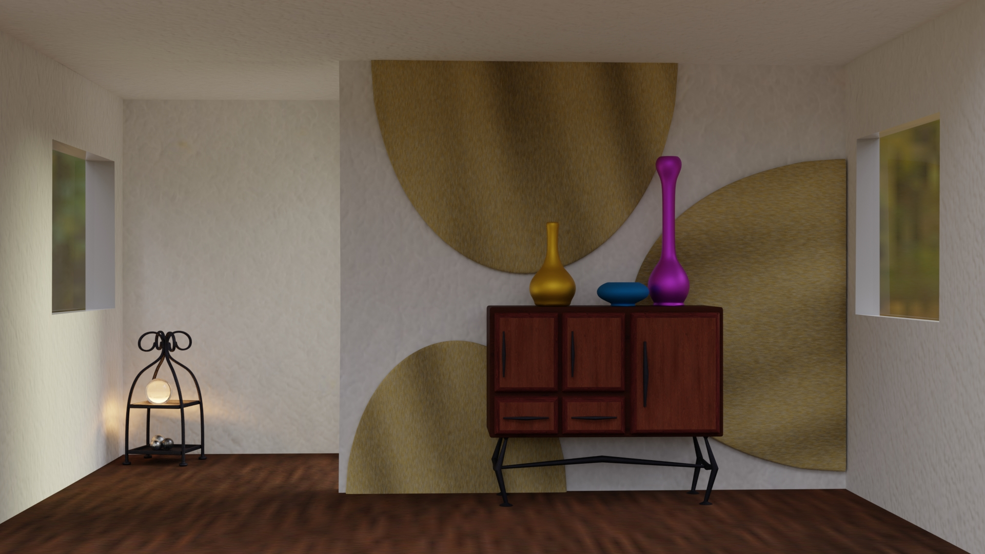 Interior Scene 4 with wooden floor and more deco