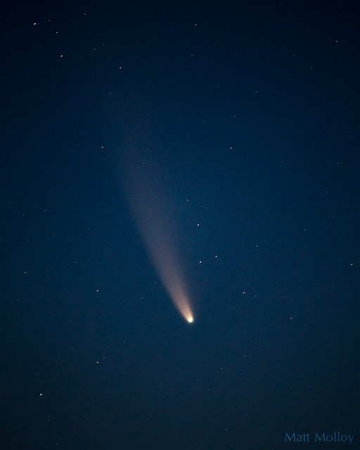 Comet NEOWISE close up