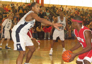 In this pic from 2006, Episcopal's Gerald Henderson plays defense as teammate Wayne Ellington (22) observes. | by tedtee308