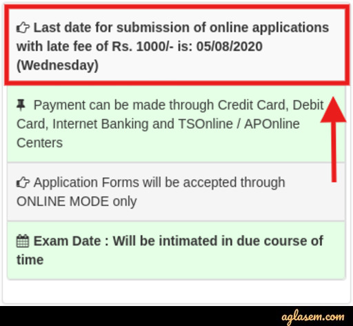 TS ICET 2020 Last Date to Apply - Extended