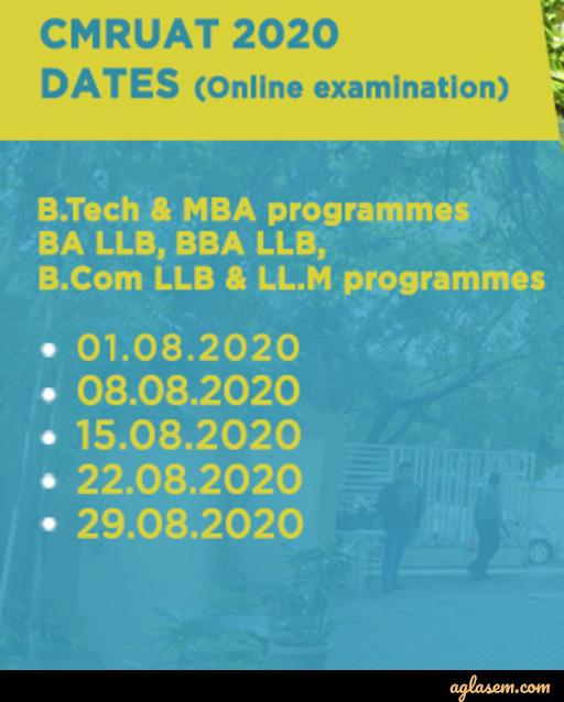 CMRUAT 2020 New Exam Dates