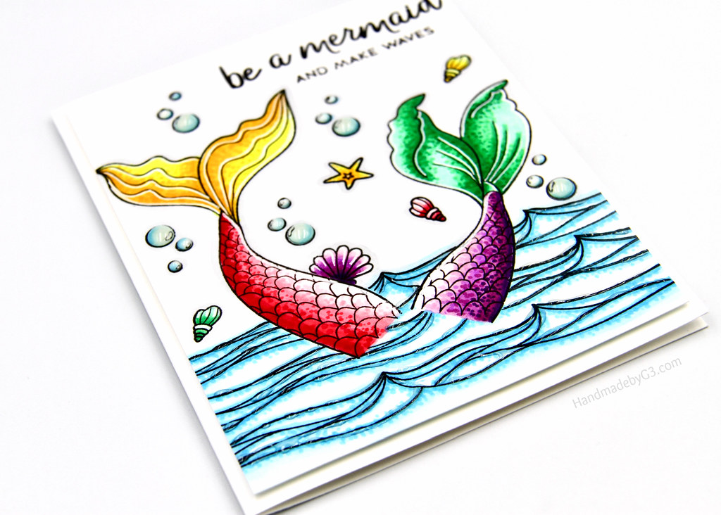 Be a mermaid card flat