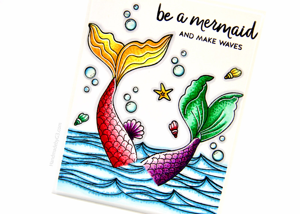 Be a mermaid card closeup1