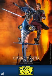 高機動力的單人載具登場! Hot Toys - TMS020 -《星際大戰:複製人之戰》安納金·天行者&STAP(Anakin Skywalker and STAP)1/6 比例人偶套組