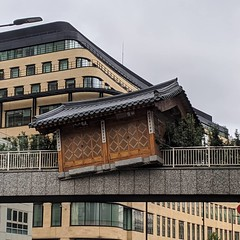 A Chinese hut seems to have crashed onto Wormwood St