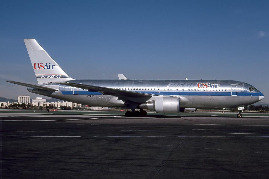 N650US - Boeing 767-201 - USAir - KLAX - Dec 1989