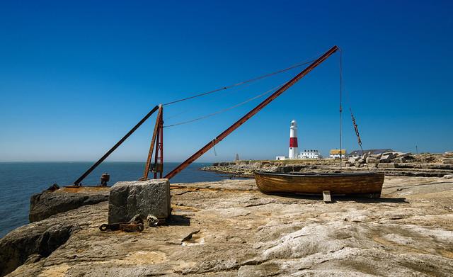 Boat Crane & Lighthouse