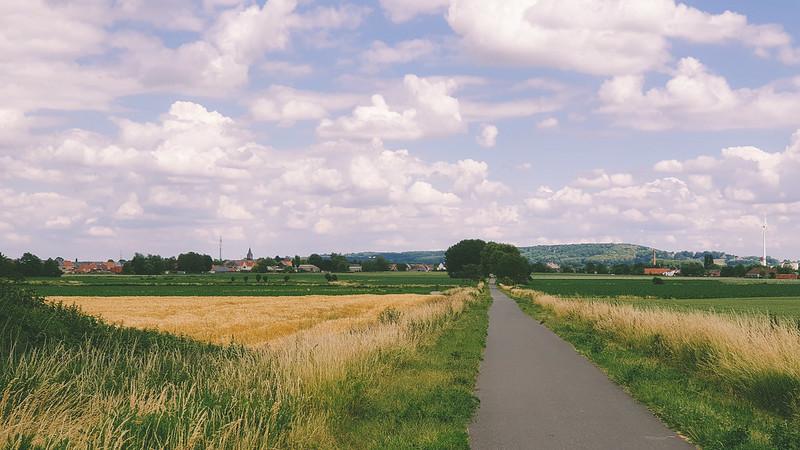 Oude spoorwegberm richting Avelgem