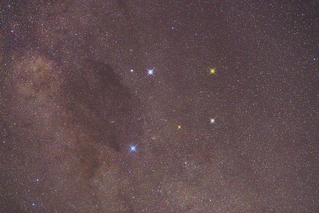 Southern Cross and Coalsack Nebula