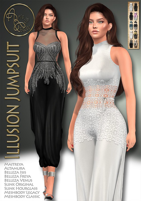 ArisArisB&W~Illusion Jumpsuit~VENDOR