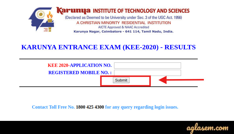 KEE 2020 KEE 2020: Result (Out), karunya.edu