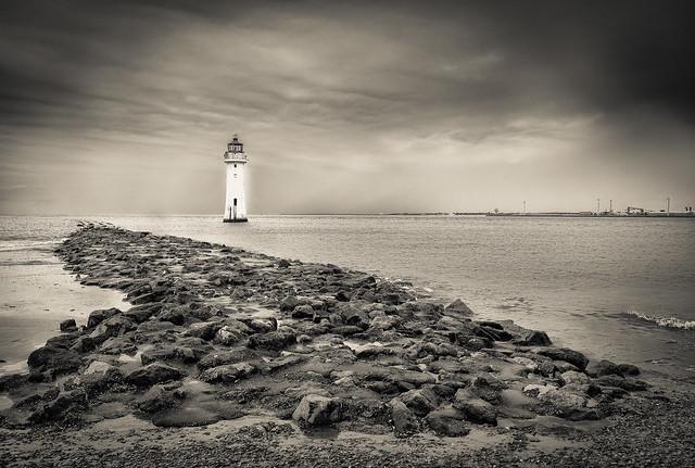 New Brighton Lighthouse Liverpool Bay.