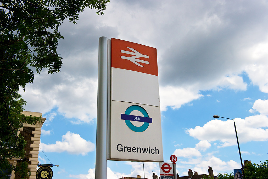 Greenwich Station sign