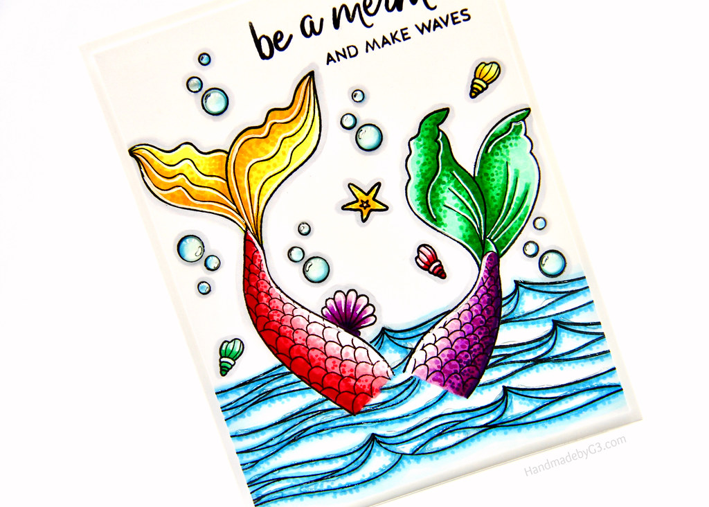 Be a mermaid card closeup