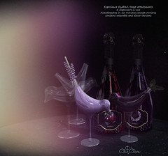 Lavender & Plum wine dispensers by ChicChica @ Cosmopolitan