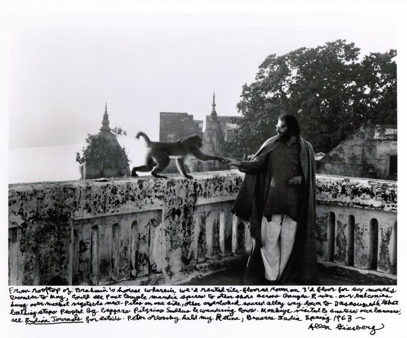 Аллен Гинзберг в Варанаси, Индия