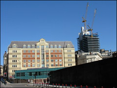 Victoria Square House, with 103 Colmore Row taking shape alongside, Birmingham city centre, summer 2020