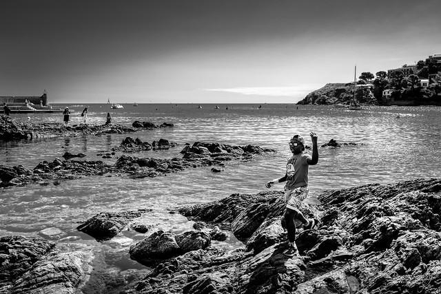 Sur les rochers de Collioure