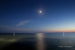 Moonlight over North Beach Park, Michigan
