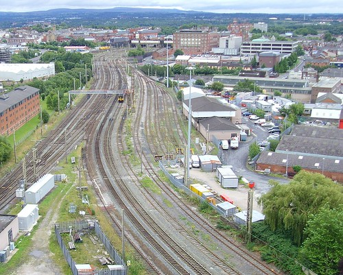 Looking down at rail tracks in Preston | by Tony Worrall