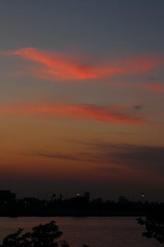 edoriver river water sunset cloud clouds ichikawa chiba japan sky