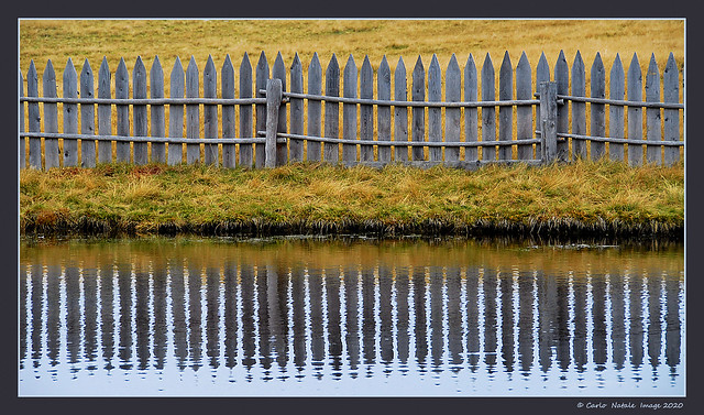 Fence with reflection