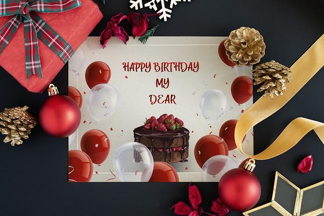 Birth day wishing card