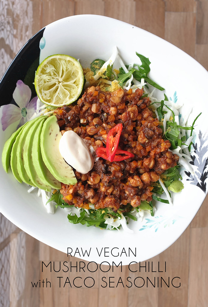Raw Vegan Mushroom Chilli with DIY Taco Seasoning