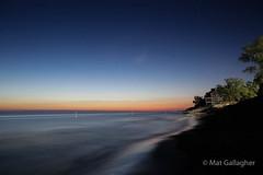 Last light, North Beach Park, Michigan