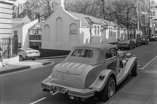 Car, Gilbert St, St Anselm's Place,  Mayfair, Westminster, 1987 87-7a-64-positive_2400