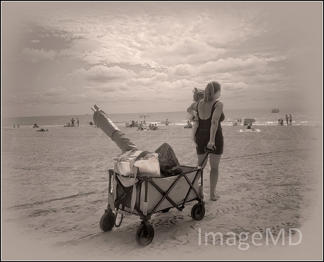 Woman & Cart