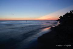 Sunset at North Beach Park, Michigan