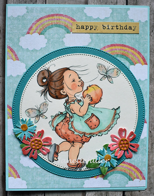 Peaches Happy Birthday Cardy